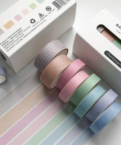 Dekorationstejp - washi tape - Champagne - 8 pack