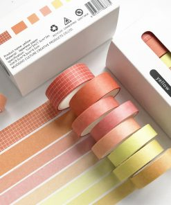 Dekorationstejp - washi tape - Yellow - 8 pack