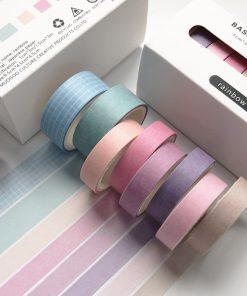 Dekorationstejp - washi tape - Rainbow - 8 pack