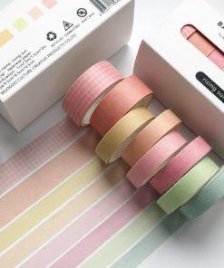 Dekorationstejp - washi tape - Rising sun - 8 pack