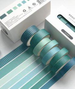 Dekorationstejp - washi tape - Ocean - 8 pack