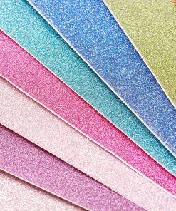 Glitterpapper A4 - 10 stycken mix