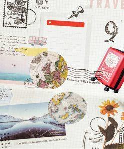 Stickers - Klistermärken retro kartor
