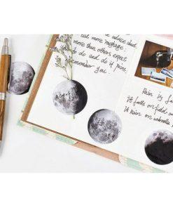 Stickers - Klistermärken månen - månfaser