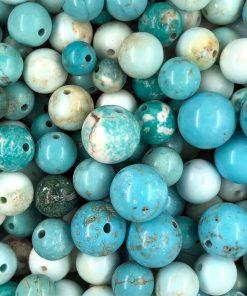 Naturliga Turkos stenpärlor - mix 6-10 mm